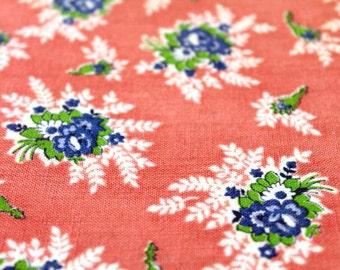 Vintage Feedsack Cotton Fabric FQ 86