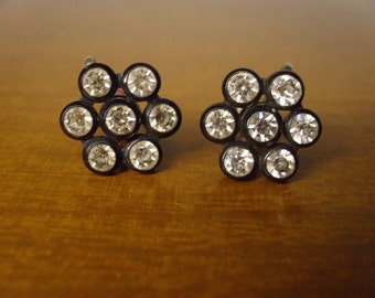 Vintage 1960's  Rhinestone Earrings