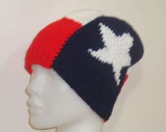 Texas Flag Hat/Texan Flag Knit Hat/Woman Winter Fashion Accessories