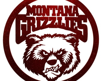 Hand Made Montana Grizzlies Scenic Art Wall Design *NEW*