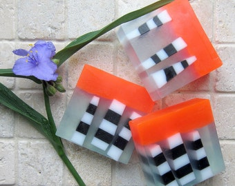 Sweet Orange & Chili Pepper Scented Glycerin and Shea Butter Soap