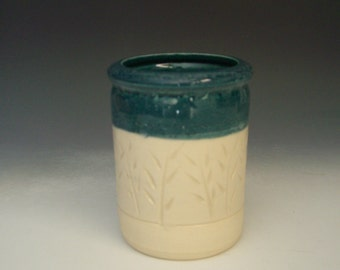 Hand thrown stoneware pottery jar  (AJ-7)