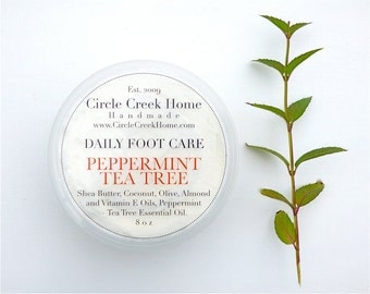 Peppermint Tea Tree Foot Care - Handmade by Circle Creek Home