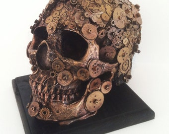 steampunk clockwork skull