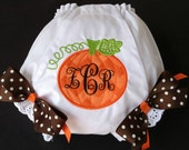 Personalized Pumpkin Diaper Covers   Bloomers