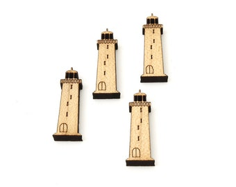 """Lighthouse Charms - 1 1/2"""" Size - Laser Cut Wood Etsy Itsies by Timber Green Woods"""