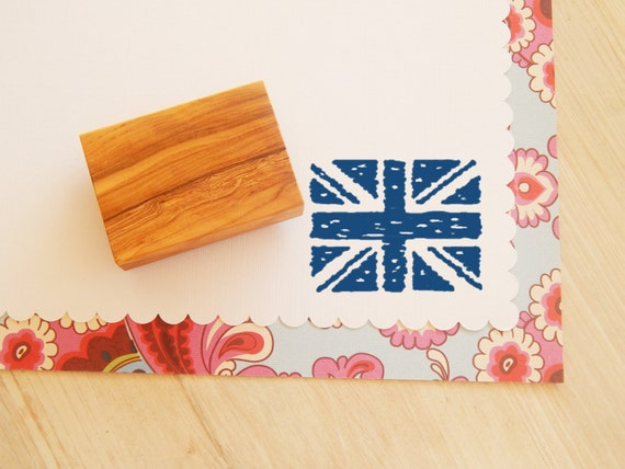 Rough and Ready Union Jack Olive Wood Stamp