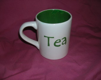 Mug withGreen Tea  or Black Tea Decoration