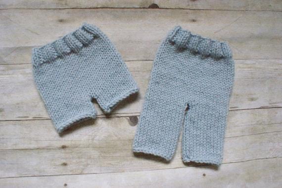 Shorts Knitting Pattern : KNITTING PATTERN Pants and Shorts newborn baby printable