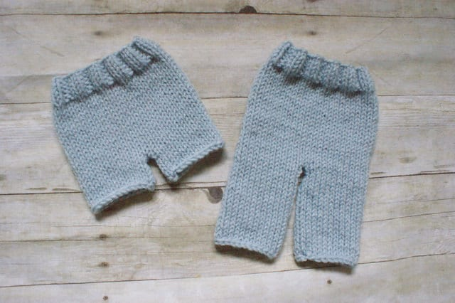 KNITTING PATTERN Pants and Shorts newborn baby printable