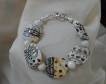 Southwestern Lamp Work Beads Bracelet