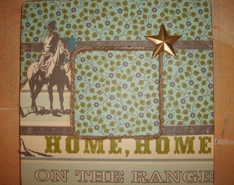 Country Western Cowboy Decoupaged Picture Frame