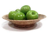 Flared Centerpiece Bowl - Earth Tone Brown with Green