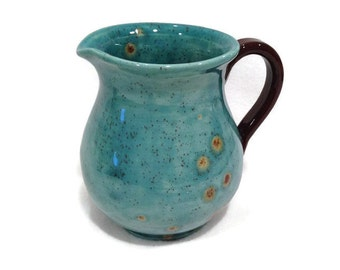 Ceramic Creamer / Small Pitcher in Teal Blue