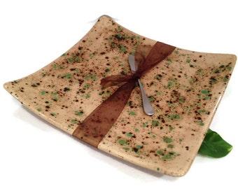 Square Serving Platter - Emerald Terrene