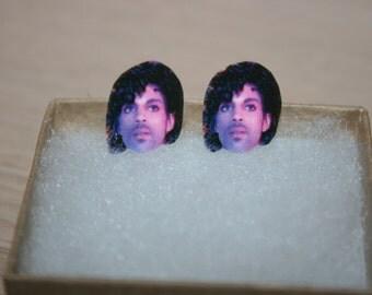 Celebrity Inspired Prince Purple Rain Stud Earrings Jewelry