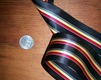 """1 yd. of antique satin striped ribbon 2"""",  more avail."""