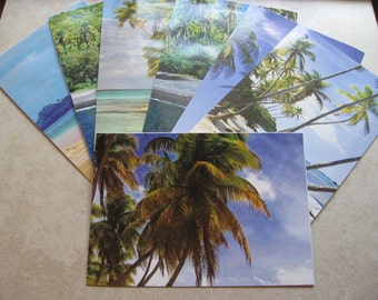 large blank cards repurposed from last years tropical island calendar