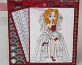 SASSY BRIDE - wedding  - OOAK card
