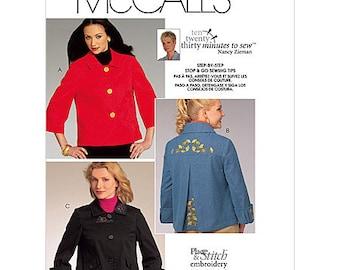 McCalls Jacket Pattern M5763 by Nancy Zieman - Misses' Jackets in Three Variations  - Sz 8/10/12/14/16