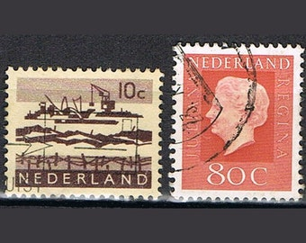 65 Old Dutch Postage Stamps - Netherlands - Holland - Europe
