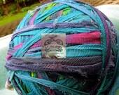 Water Colored Silk Chiffon Crepe Recycled Ribbon
