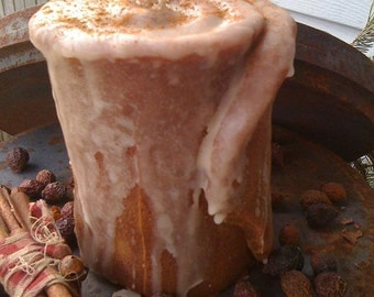 Cinna Bun Pillar Candle - Scented - Handmade - Cinnamon Scented - Only 16.99 each