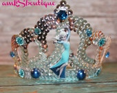 Snow Queen Elsa Crown Headband Sparkle Rhinestone Princess Frozen Ice Princess Birthday Crown