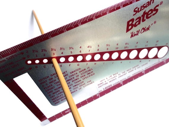 Knitting Needle Stitch Gauge : Susan Bates Knit Chek Knitting Needle Gauge for Needle Size