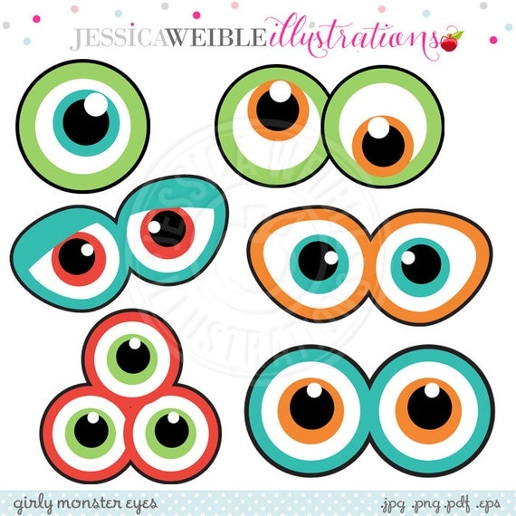Monster Face Printables monster eyes cute printable birthday party ...