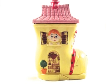 Vintage Cookie Jar, The Old Woman Who Lived in a Shoe