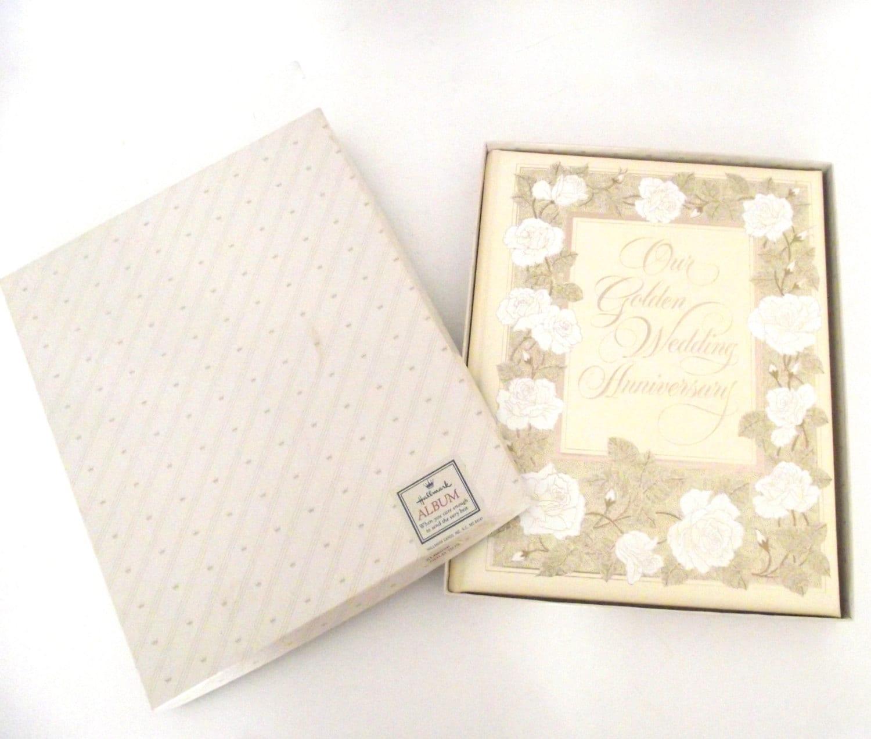 Hallmark Wedding Album: Our Golden Wedding Anniversary Vintage Hallmark By