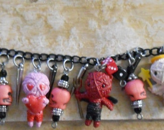 Hand Crafted Mixed Media Charm Bracelet