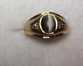 Vintage Men's 10K Gold Cat's Eye Ring size10