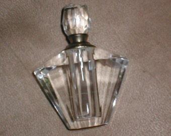 Vintage Crystal  Perfume Bottle