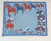 Reserved for Melissa Vintage Scandinavian Swedish Dala horse table mat