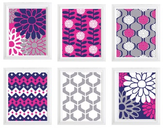 Flower Power set of 6 prints :)