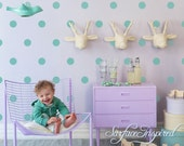 """Turquoise Wall Decals Polka Dots Wall Decor Nursery Wall Decals Confetti Polka Dot Wall Decals 1"""", 1.5"""", 2"""", 2.5"""", 3"""" dots"""