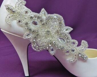 Bridal Shoe Clips, Rhinestone Shoe Clips, Crystal Shoe Accessory , Bridal Shoe Accessory