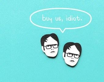 Dwight Schrute earrings