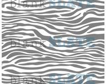 Zebra Stencil - 12x12