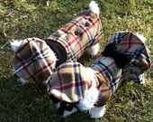 British Plaid Dog Beret, Hats for dogs, Dog Hat