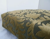 Dog Bed Cover   Gold and Dark Taupe Upholstery 17.5 x 23