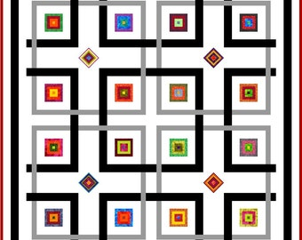 "YIPPY-I-O - 58"" - Quilt-Addicts Pre-cut Patchwork Quilt Kit or Finished Quilt Lap"