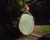 Green Muscovite in Quartz Pendant