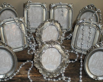 Silver Frame Collection Wedding Numbers Oval Rectangle