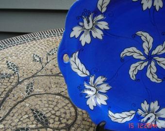 Vintage R.S. Germany Porcelain Pierced Handle Platter - Beautiful