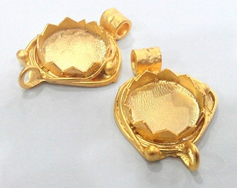 Gold Plated Blank  Cabochon Base ,Findings  2101