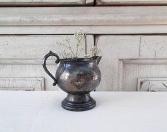 Vintage Silver Creamer FB Rogers Company Rustic Barn Wedding Dessert Table Farmhouse Decor