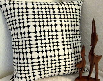 Panton Mid Century Modern Throw Pillow Cover - Black and White Unisol pattern - Many sizes available